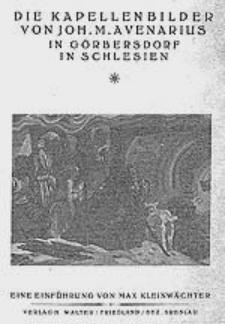 Die Kapellenbilder von Joh. M. Avenarius in Görbersdorf in Schlesien