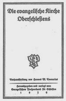 Die evangelische Kirche Oberschlesiens