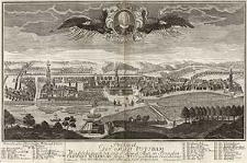 Prospect der Stadt Potsdam. Wie solche nach der, von Sr. Königl. Maj in Preussen Friderici Wilhelmi Anno 1733 geschenenen Erweiterung von der Mittags und Morgen Seite anzusehen