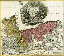 Ducatus Pomeraniae novissima tabula in anteriorem et interiorem divisa, quatenus subsunt Coronis Sueciae et Borussiae cum insertis et adjacentibus Ditionibus