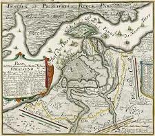 Plan und Situation von der Statt u. Vestung Stralsund. Wie selbige von derer hohen wieder die Cron Schweden Alliirten Arméen annô 1715. den 15.te[n] Julii berennet, und hernachmahls die Approchen den 19.ten October davor seÿndt eröffnet worden