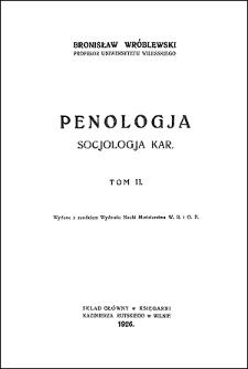 Penologja : socjologja kar. T. 2