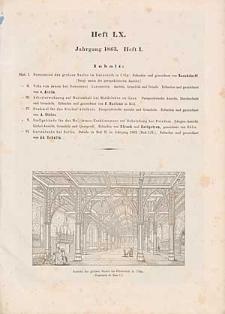 Architektonisches Skizzenbuch, 1863, Heft (I) LX, Blatt 1-6