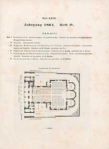 Architektonisches Skizzenbuch, 1864, Heft (IV) LXIX, Blatt 1-6