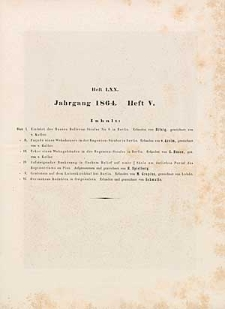 Architektonisches Skizzenbuch, 1864, Heft (V) LXX, Blatt 1-6
