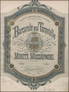 Barcarole und Tarantelle : für Pianoforte ; Op. 27 No. 1 Barcarole