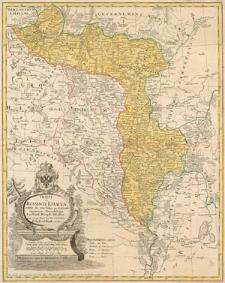Charte von Russisch Litauen, welche die von Polen an Rußland abgetretenen Woiewodschaften, Liefland, Witepsk, Mscislaw, und einen Theil der Woiewodschaften Polock und Minsk enthält