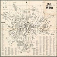 Plan der Stadt Posen
