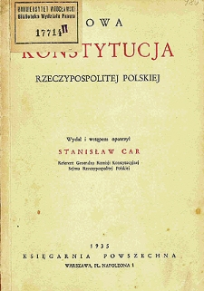 Nowa konstytucja Rzeczypospolitej Polskiej
