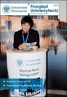 Przegląd Uniwersytecki (Wrocław) R.18 Nr 1 (186) styczeń 2012