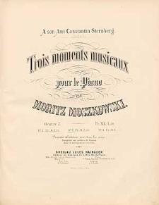 Trois moments musicaux : pour le piano : oeuvre 7. : No. 2.