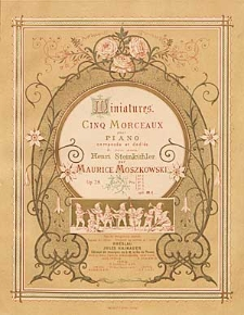 Miniatures : cinq morceaux pour piano : op.28.