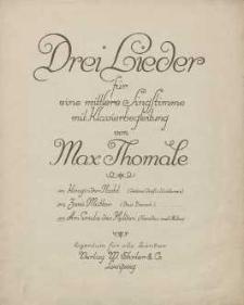 Am Grabe des Helden [z cyklu:] Drei Lieder für eine mittlere Singstimme mit Klavierbegleitung : No. 3