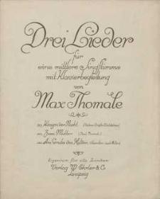 Königin der Nacht [z cyklu:] Drei Lieder für mittlere eine Singstimme mit Klavierbegleitung : No. 1