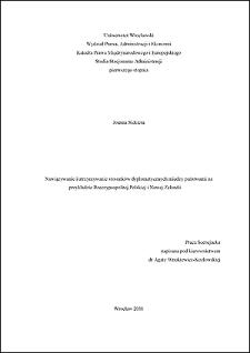 Nawiązywanie i utrzymywanie stosunków dyplomatycznych między państwami na przykładzie Rzeczypospolitej Polskiej i Nowej Zelandii - Wstęp