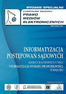 Prawo Mediów Elektronicznych. Wydanie Specjalne - Wprowadzenie