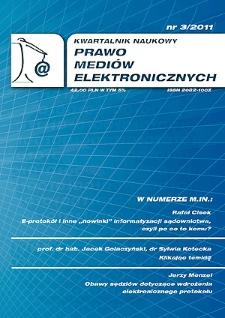 """""""Protokół elektroniczny"""" w świetle rozporządzenia w sprawie zapisu dźwięku albo obrazu i dźwięku z przebiegu posiedzenia jawnego"""