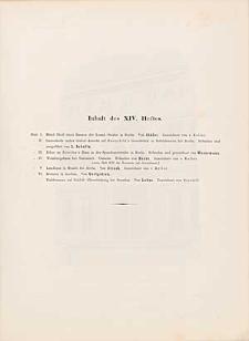 Architektonisches Skizzenbuch, 1854, Heft XIV, Blatt 1-6