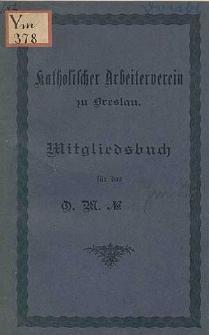 Statuten des Katholischen Arbeitervereins zu Breslau