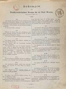 Satzungen des Deutsch-konservativen Vereins für die Stadt Breslau
