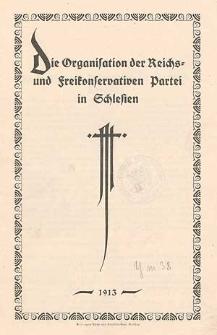 Die Organisation der Reichs- und Freikonservativen Partei in Schlesien