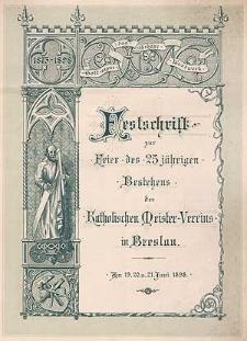 Statuten des katholischen Meister-Vereins zu Breslau