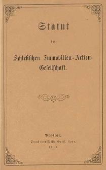Statut der Schlesischen Immobilien-Actien-Gesellschaft