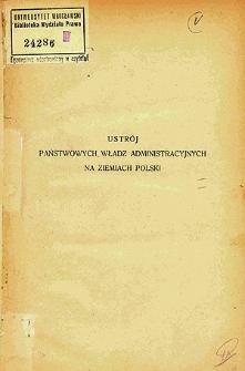 Ustrój państwowych władz administracyjnych na ziemiach Polski