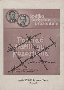 Pamięć Häftlingu pozostanie : pieśń z obozów koncentracyjnych