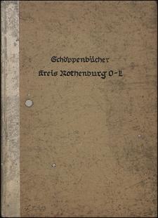 Verzeichnis der Schöppenbücher des Kreiss Rothenburg (Ober-Lausitz)