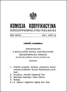 Komisja Kodyfikacyjna Rzeczypospolitej Polskiej. Dział Ogólny 1930 T. 1, z. 13
