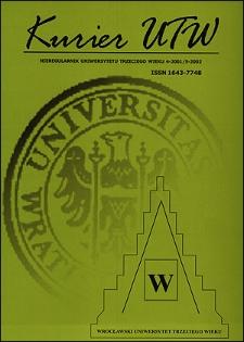 Kurier UTW: nieregularnik Uniwersytetu Trzeciego Wieku Nr 4 2001 / Nr 5 2002