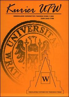 Kurier UTW: nieregularnik Uniwersytetu Trzeciego Wieku Nr 7 2003