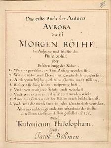 Das erste Buch des Autores Aurora das ist Morgen Rothe...