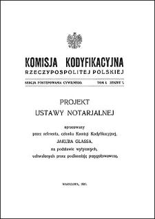 Komisja Kodyfikacyjna Rzeczypospolitej Polskiej. Sekcja Postępowania Cywilnego. T. 1, z. 7