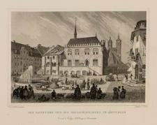Das Rathhaus und die Johanniskirche in Goettingen