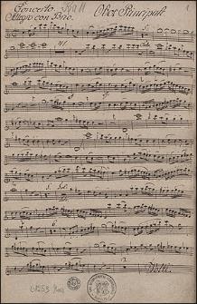 Concerto I. Per oboe principale. violino Primo. violino secondo. Due oboe. Due corni. viola. e basso