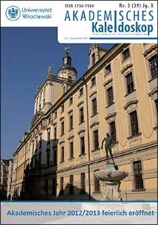Akademisches Kaleidoskop Jg. 10 Nr 3 (39) Juli - September 2012