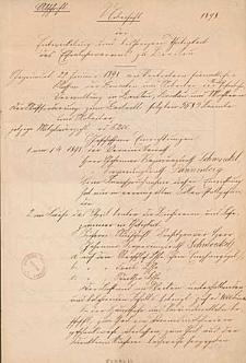 Abschrift der Entwickelung und bisherigen Thätigkeit des Eisenbahnvereins zu Breslau