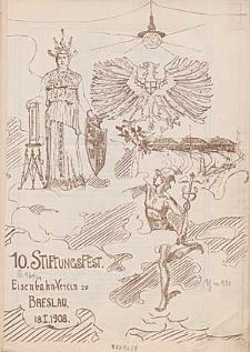 10. Stiftungs-Fest Eisenbahn-Verein zu Breslau, 18.01.1908