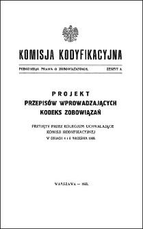Komisja Kodyfikacyjna. Podkomisja Prawa o Zobowiązaniach. Z. 3