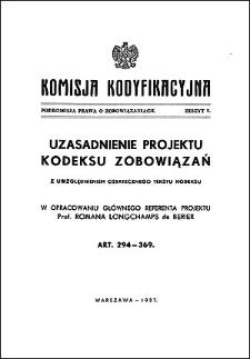 Komisja Kodyfikacyjna. Podkomisja Prawa o Zobowiązaniach. Z. 7