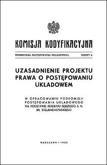 Komisja Kodyfikacyjna. Podkomisja Postępowania Układowego. Z. 3