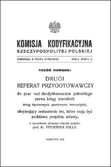 Komisja Kodyfikacyjna Rzeczypospolitej Polskiej. Podsekcja 2 Prawa Cywilnego. T. 1, z. 2