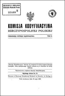 Komisja Kodyfikacyjna Rzeczypospolitej Polskiej. Podkomisja Ustroju Sądownictwa. T. 2