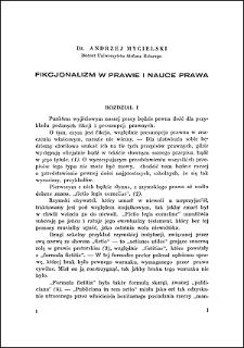 Fikcjonalizm w prawie i nauce prawa