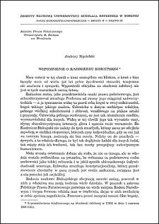 Wspomnienie o Kazimierzu Biskupskim