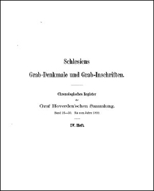 Chronologisches Register des Graf Hoverden'schen Sammlung. Bd. 16-30. Bis zum Jahre 1800