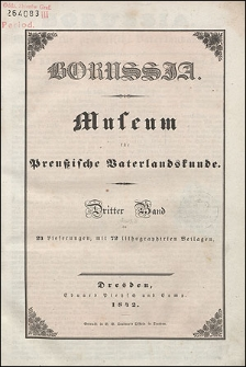 Borussia. Museum für Preußische Vaterlandskunde Bd. 3 (1842), Lief. 2
