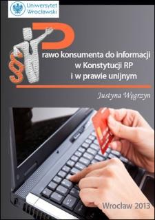 Prawo konsumenta do informacji wKonstytucji RP i w prawie unijnym